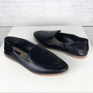 Forever 21 Black Pointed Loafers